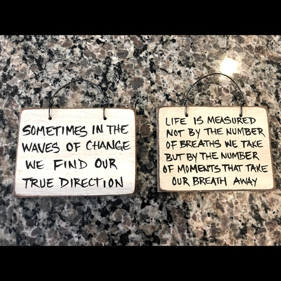 Mini Inspirational Wooden Signs